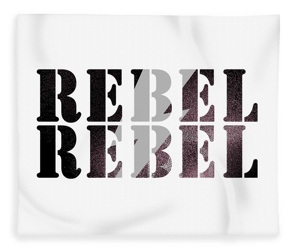Jimi Hendrix Fleece Blanket featuring the digital art Rebel Rebel by Art Popop
