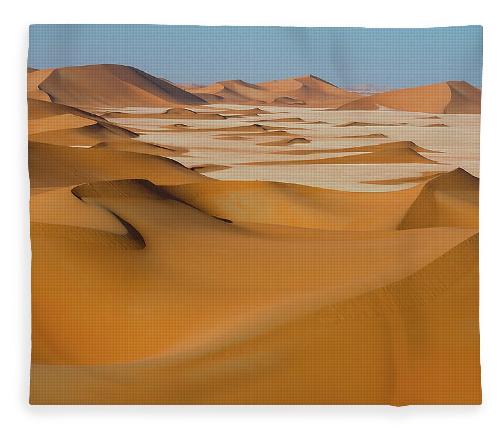 Tranquility Fleece Blanket featuring the photograph Rub Al-khali Empty Quarter by All Rights Reserved For Ahmed Al-shukaili