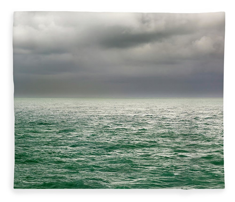 Viewpoint Fleece Blanket featuring the photograph Sea View by Stockcam