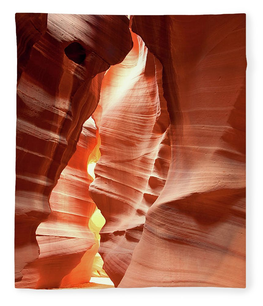Toughness Fleece Blanket featuring the photograph Slot Canyon by Colin Sands