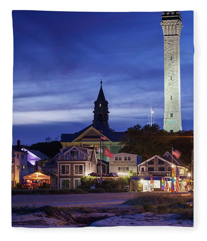 Water's Edge Fleece Blanket featuring the photograph Usa, Massachusetts, Cape Cod by Walter Bibikow