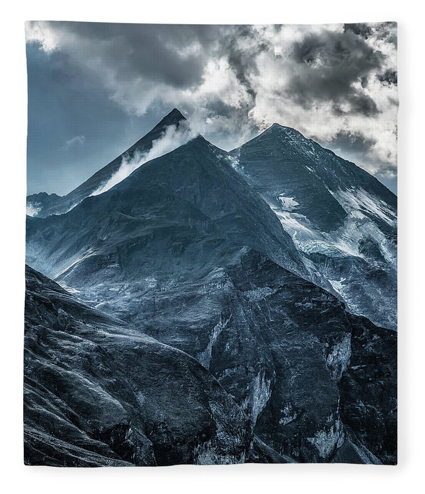 Mountain Fleece Blanket featuring the photograph When The New Day Begins by Jaroslaw Blaminsky