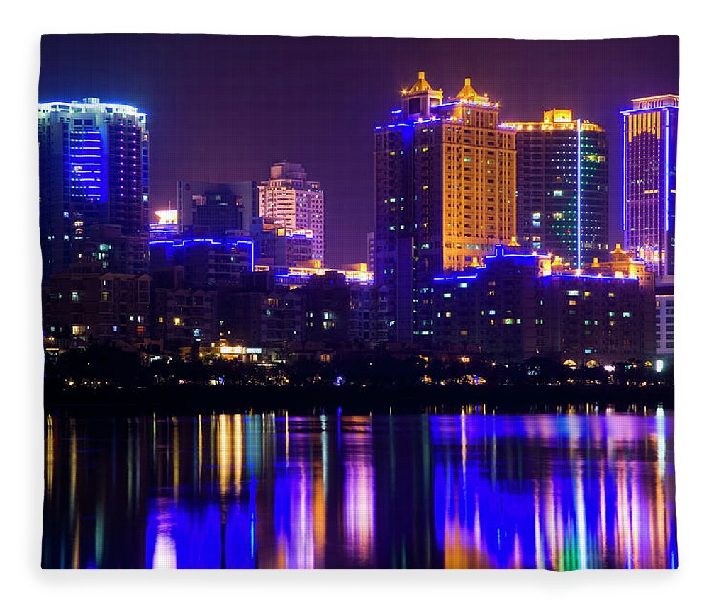 Chinese Culture Fleece Blanket featuring the photograph Xiamen,fujian by Best View Stock
