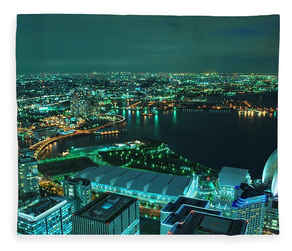 Yokohama Fleece Blanket featuring the photograph Yokohama by Copyright Artem Vorobiev