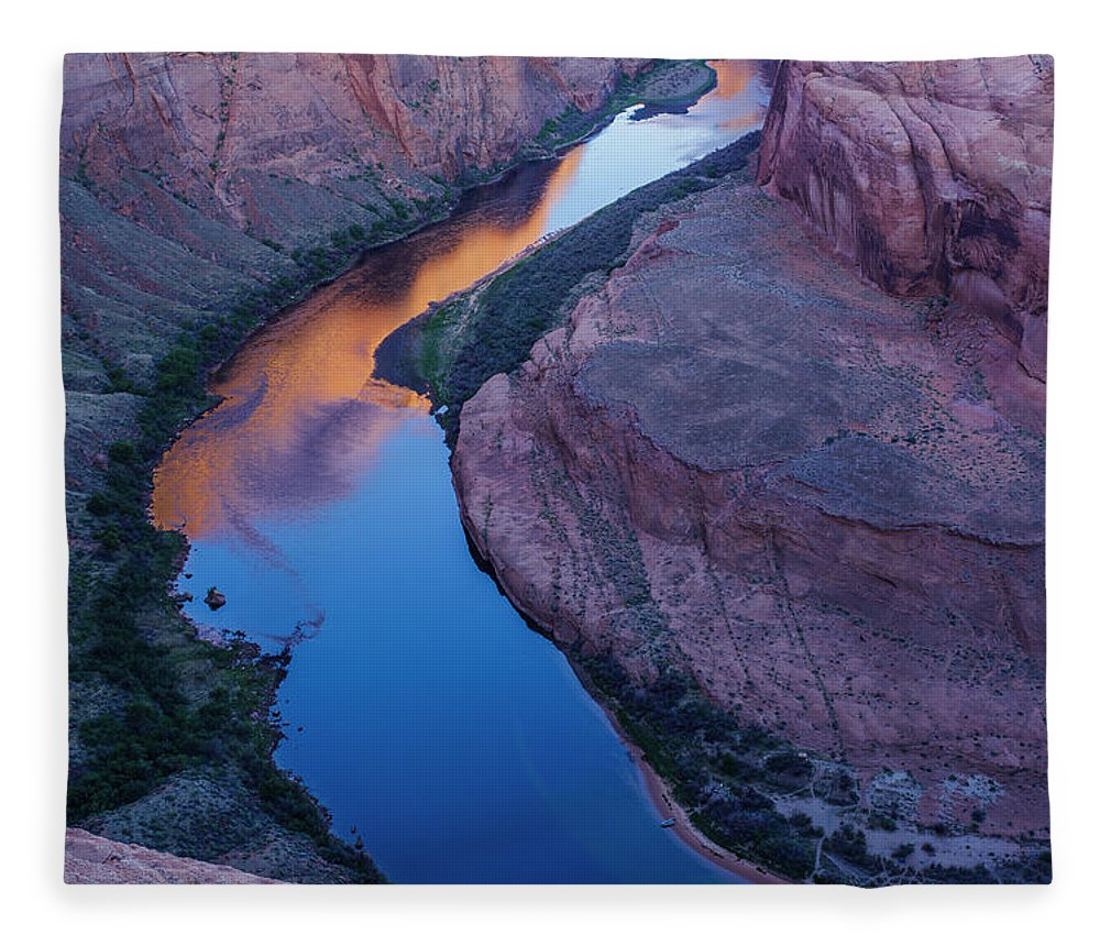Tranquility Fleece Blanket featuring the photograph Sand Stone Rock Formation In Sw Usa by Gavriel Jecan