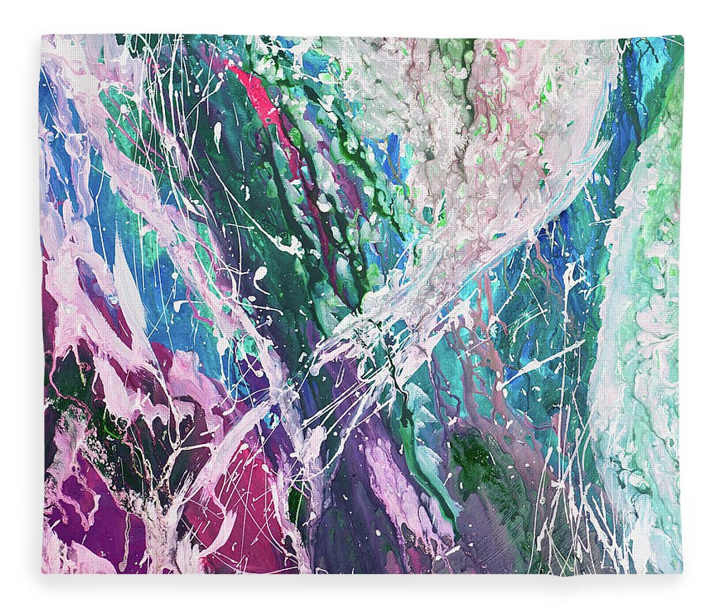 Art Fleece Blanket featuring the digital art Abstract Background by Balticboy