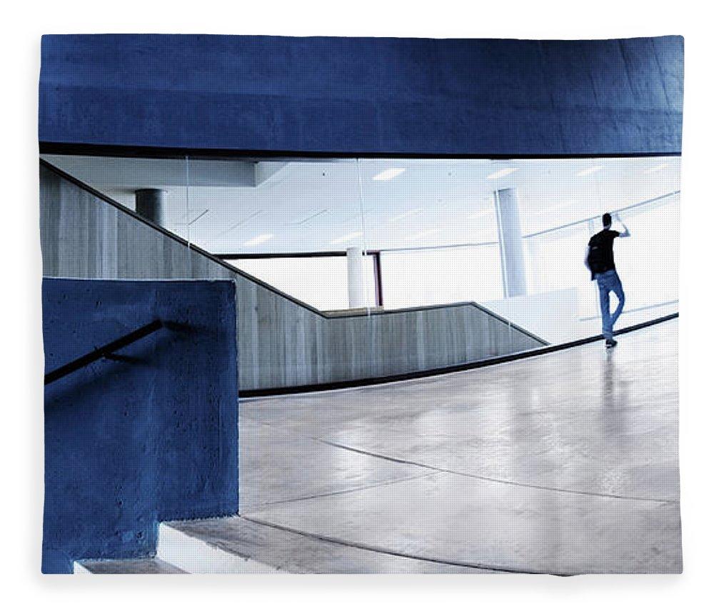 Pedestrian Fleece Blanket featuring the photograph Modern Architecture by Nikada