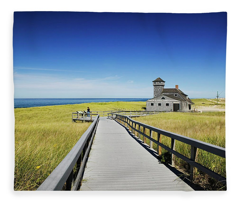 Outdoors Fleece Blanket featuring the photograph Usa, Massachusetts, Cape Cod by Walter Bibikow