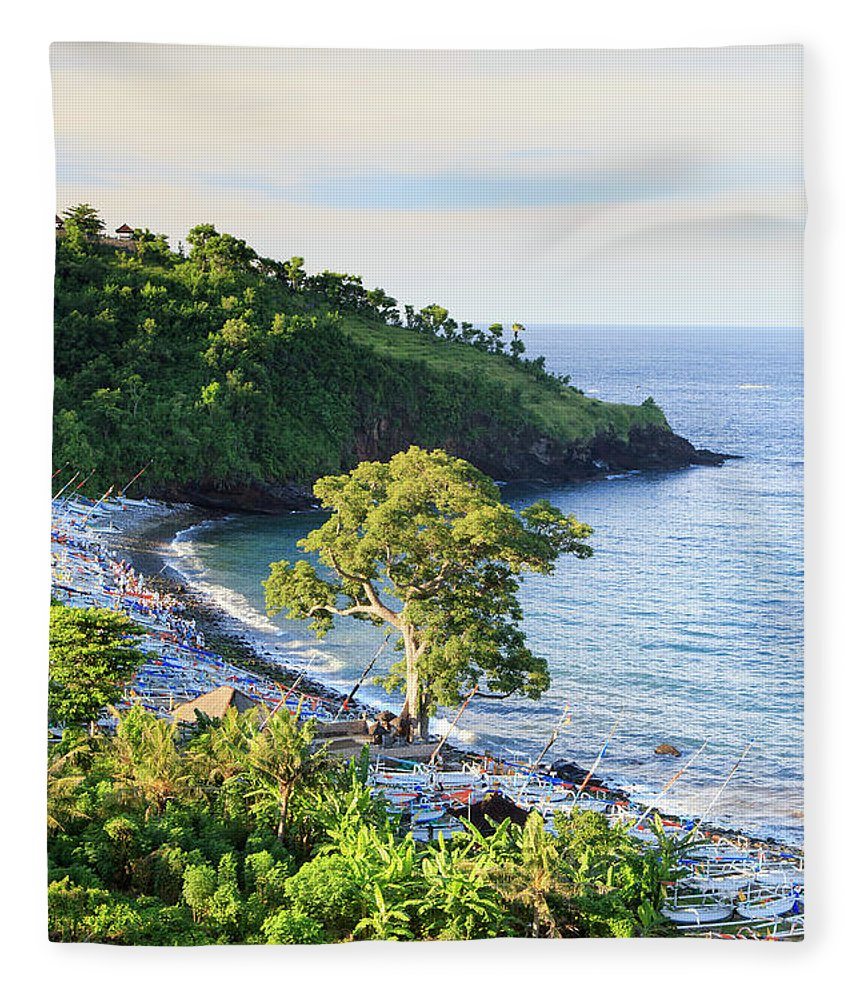 Scenics Fleece Blanket featuring the photograph Indonesia, Bali, Rice Fields And by Michele Falzone