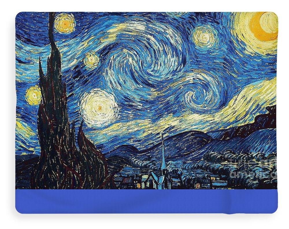Starry Night Arles By Van Gogh Fleece Blanket For Sale By Vincent Van Gogh