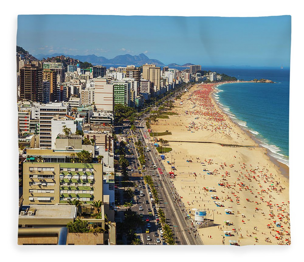 Water's Edge Fleece Blanket featuring the photograph Beaches In Rio De Janeiro by Gonzalo Azumendi