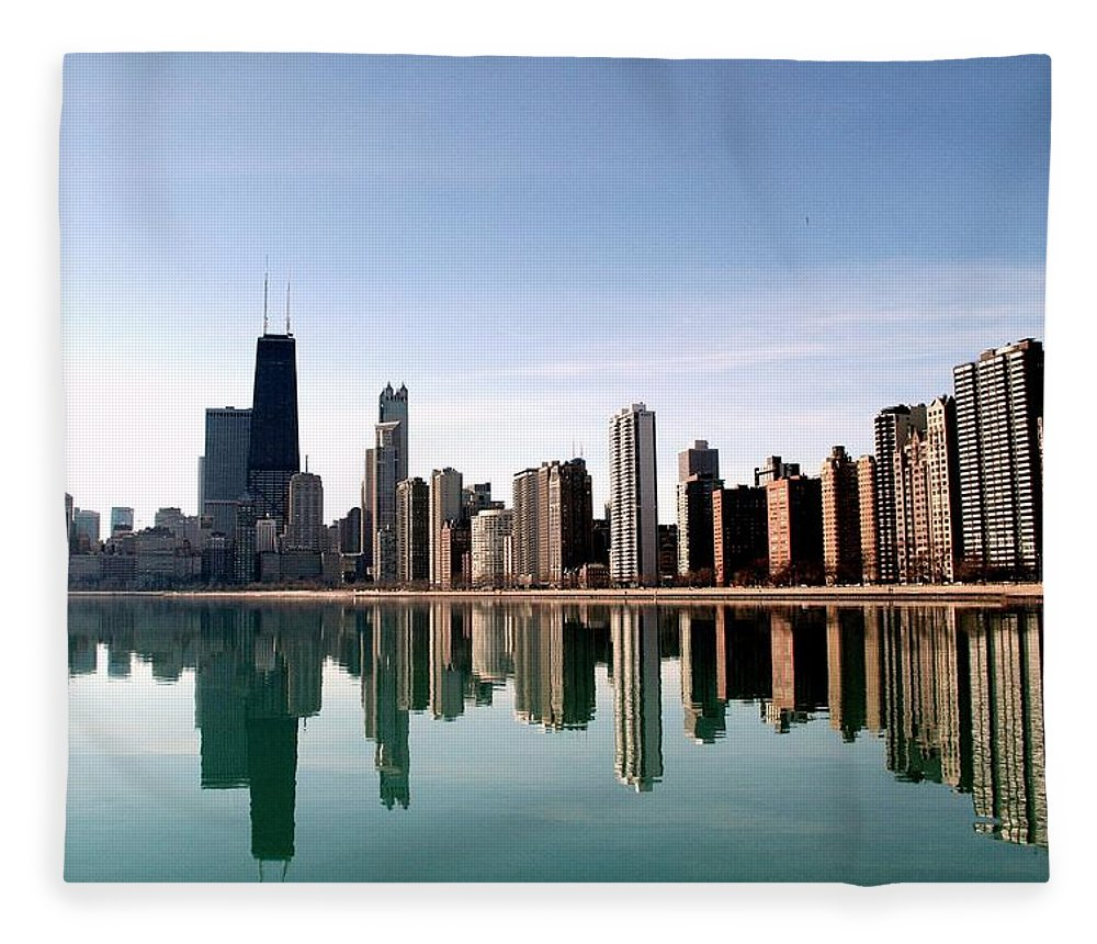 Lake Michigan Fleece Blanket featuring the photograph Chicago Skyline by J.castro