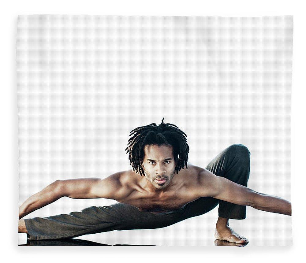 Torso Fleece Blanket featuring the photograph Dance Studio by Patrik Giardino