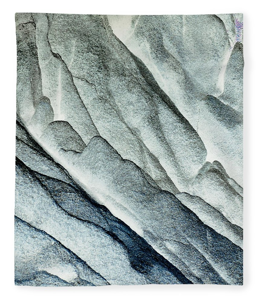 Built Structure Fleece Blanket featuring the photograph Rocky Background by John Foxx