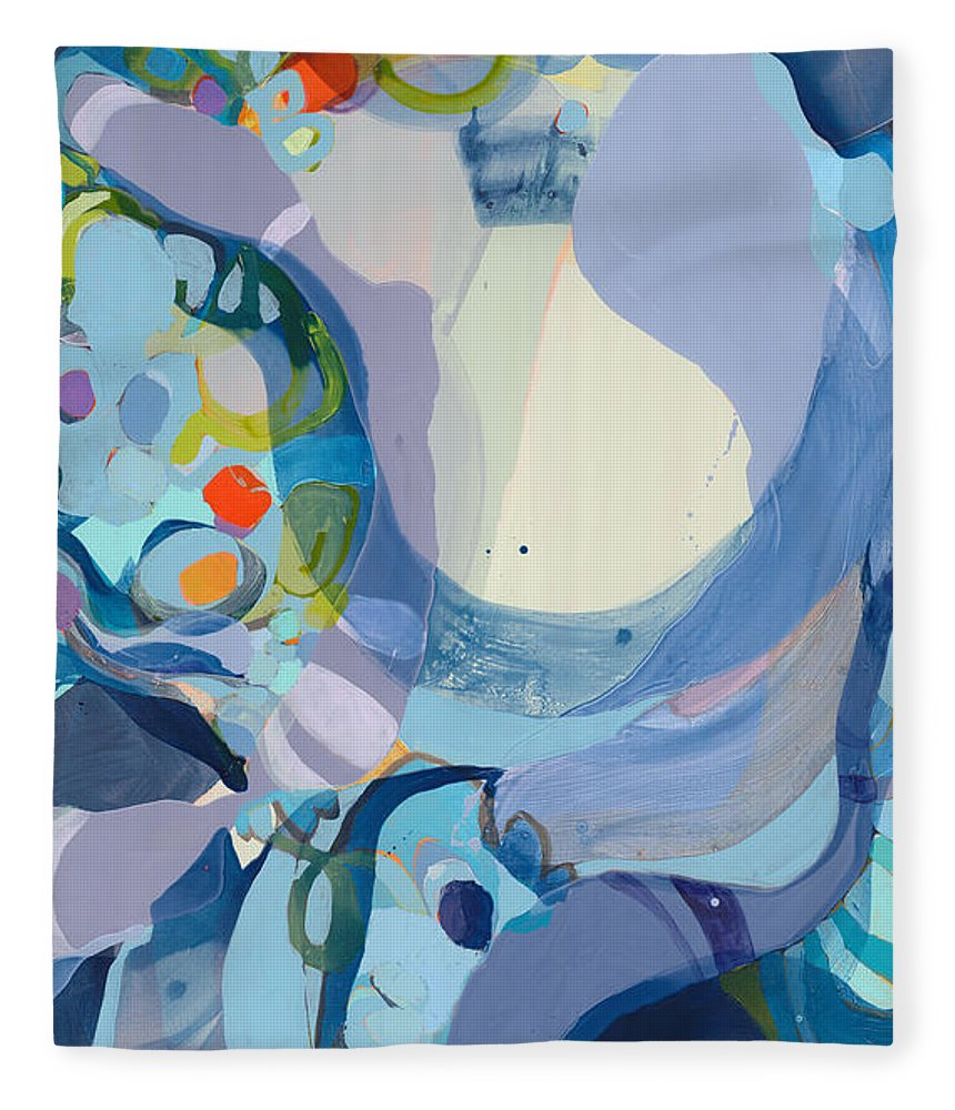 Abstract Fleece Blanket featuring the painting 70 Degrees by Claire Desjardins