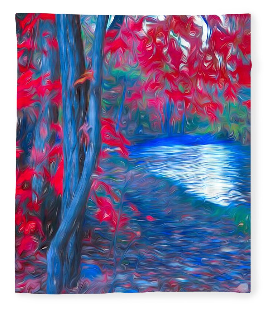 Tree Fleece Blanket featuring the photograph A Delicate Autumn by Tara Turner