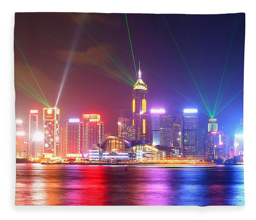 Tranquility Fleece Blanket featuring the photograph A Symphony Of Lights by Liu Wai Yip Even
