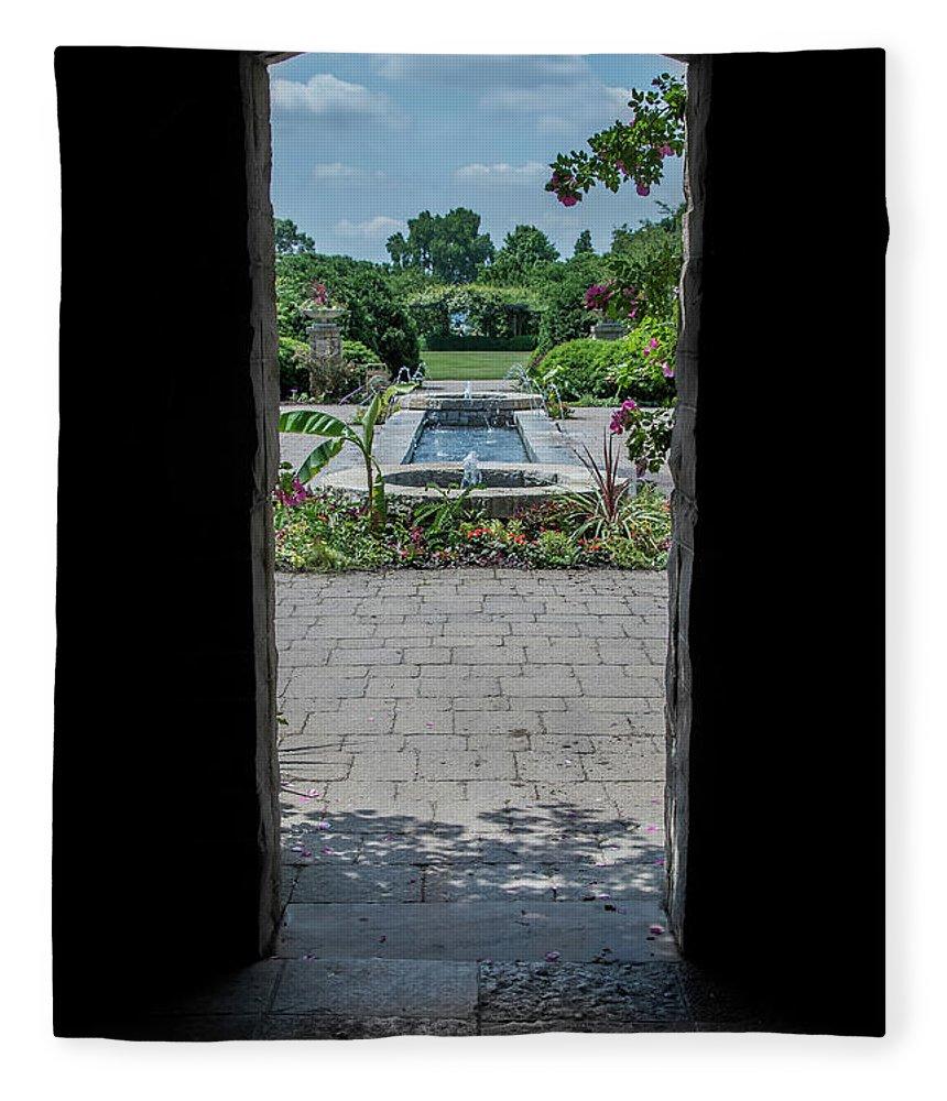 Outdoors Fleece Blanket featuring the photograph A Walk In The Garden by Deborah Klubertanz