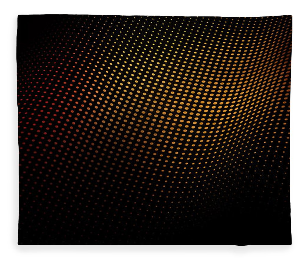 Shadow Fleece Blanket featuring the digital art A Wave Pattern Of Dots Over Shadow by Ralf Hiemisch