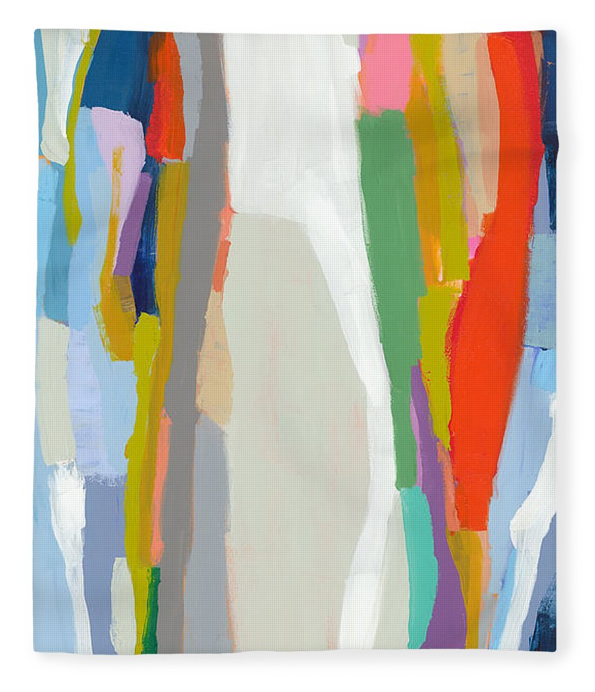 Abstract Fleece Blanket featuring the painting Aaron And His Greens by Claire Desjardins
