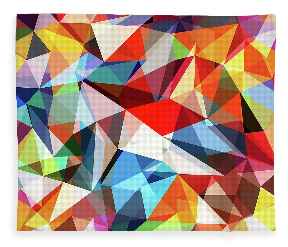 Art Fleece Blanket featuring the digital art Abstract Colorful Geometrical Background by Natrot
