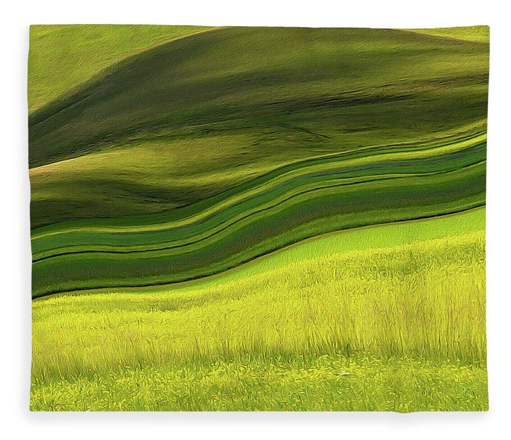Scenics Fleece Blanket featuring the photograph Abstract Landscape by Edoardogobattoni.net