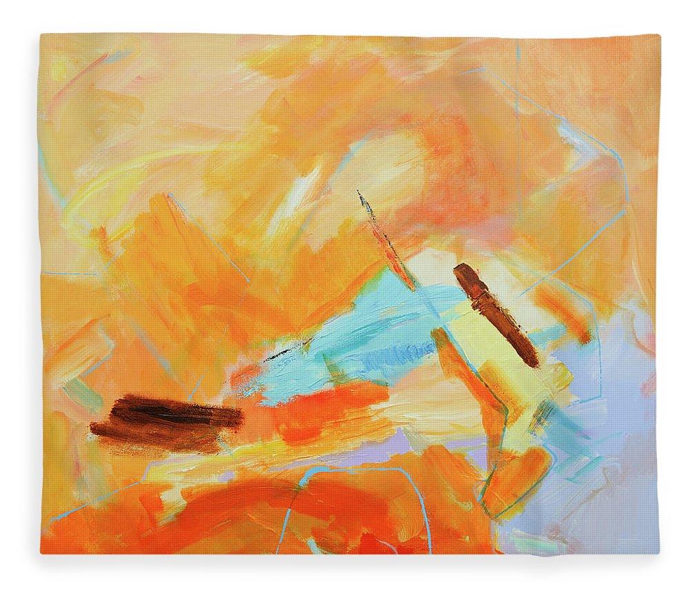 Oil Painting Fleece Blanket featuring the digital art Abstract Oil Painting by Balticboy