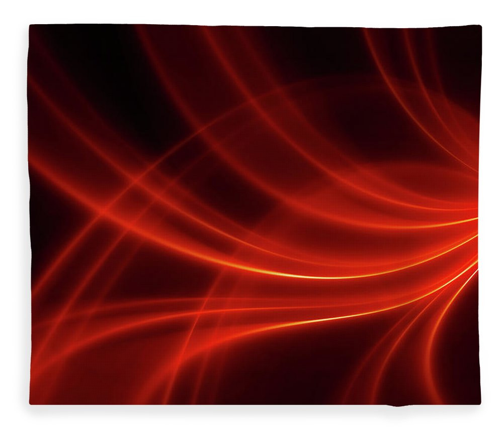 Three Dimensional Fleece Blanket featuring the photograph Abstract Red Dynamic Lines Backgrounds by Hh5800