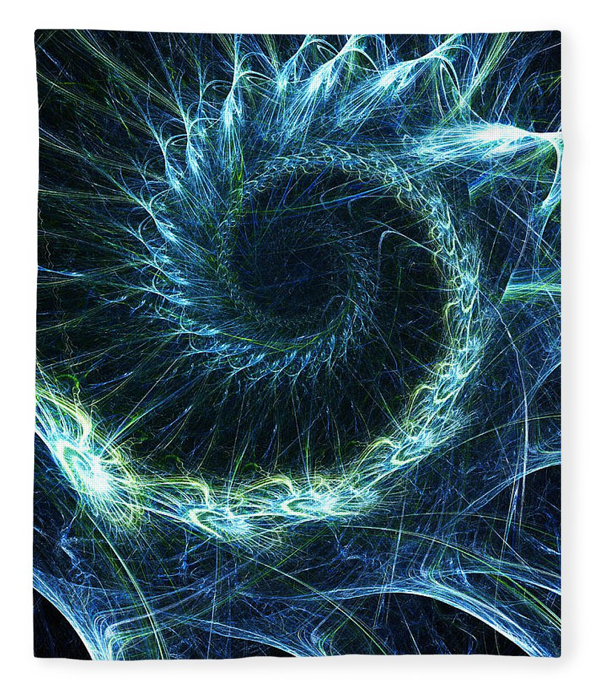 Curve Fleece Blanket featuring the photograph Abstract Swirl Pattern by Duncan1890