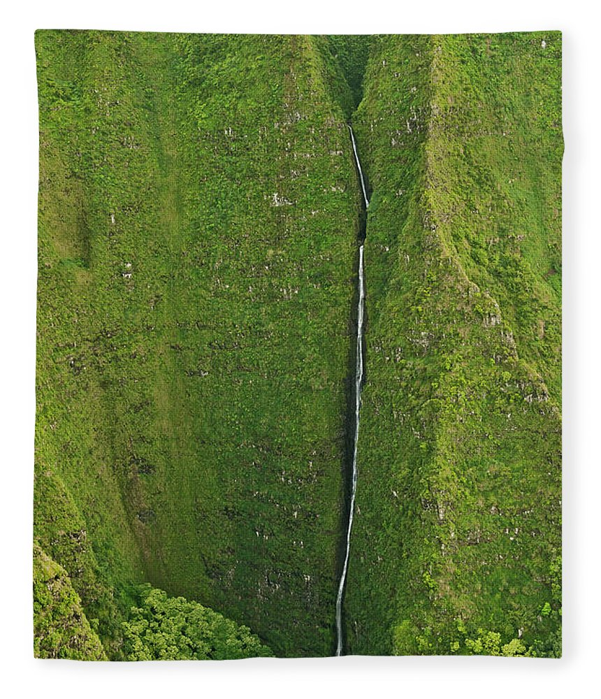 Scenics Fleece Blanket featuring the photograph Aerial View Of Waterfall In Narrow by Enrique R. Aguirre Aves