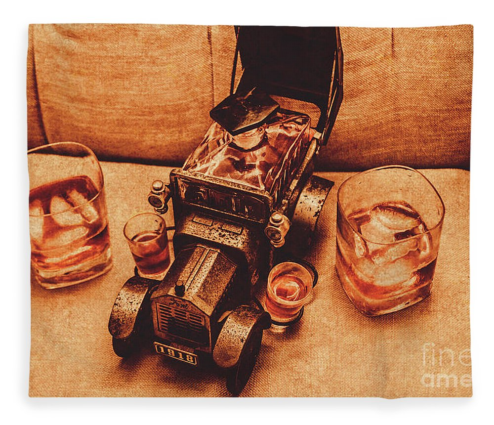 Liquor Fleece Blanket featuring the photograph Aged Since 1918 by Jorgo Photography - Wall Art Gallery