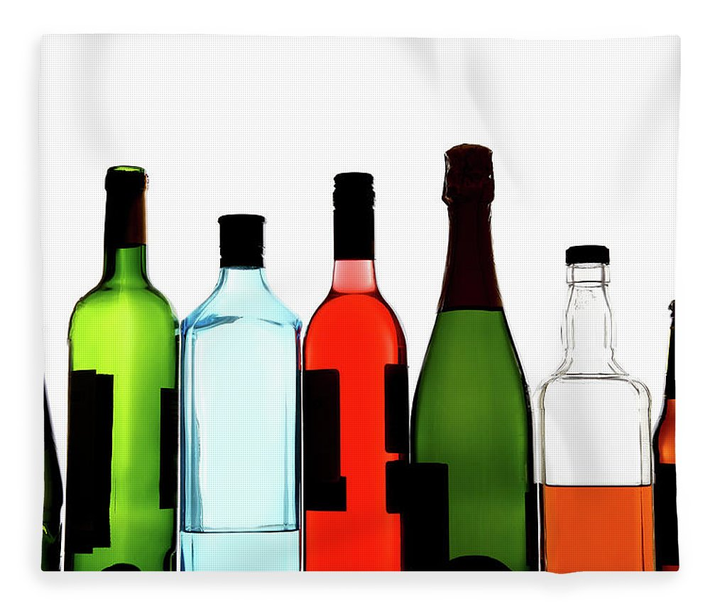 Alcohol Fleece Blanket featuring the photograph Alcohol by Mattjeacock