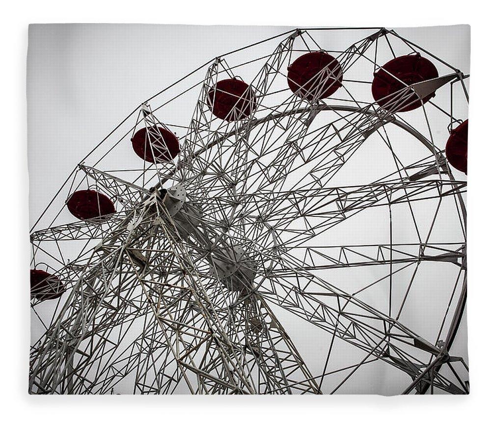 Empty Fleece Blanket featuring the photograph Amusement Park by Aluma Images
