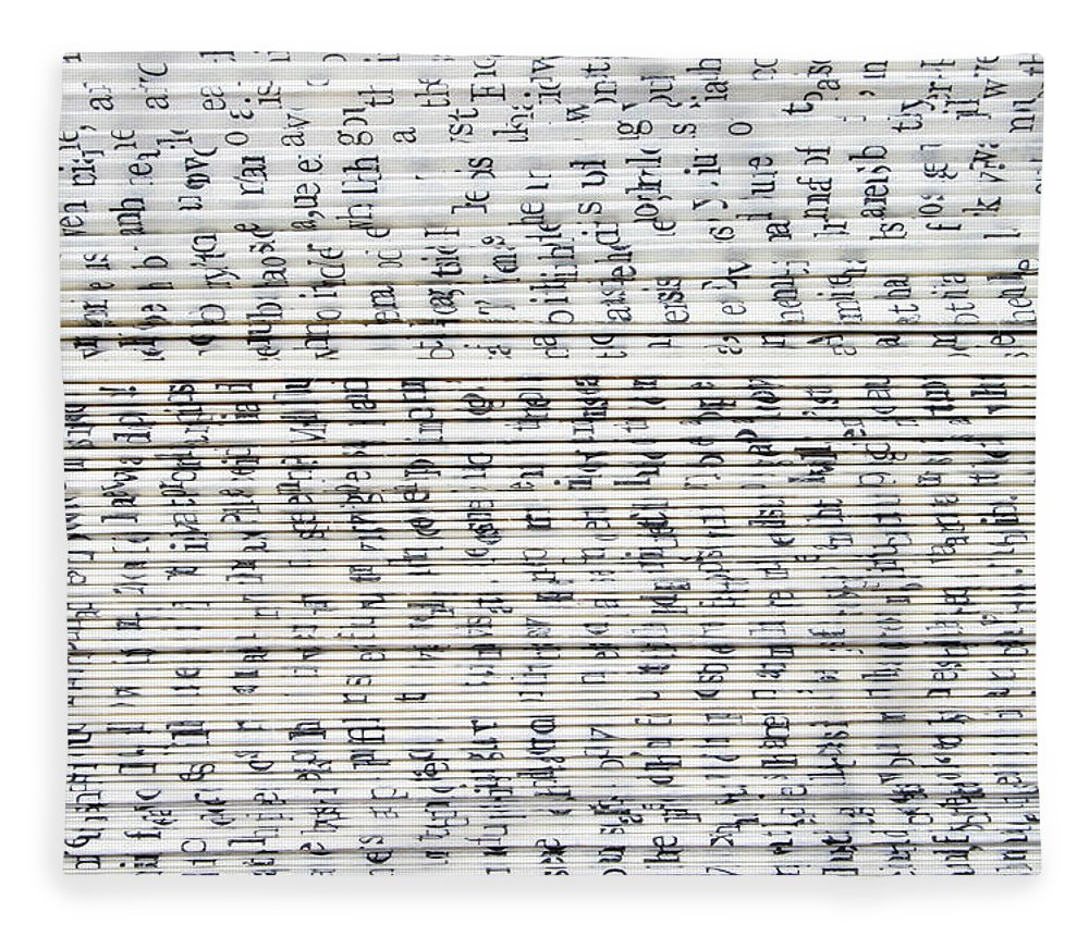 Information Medium Fleece Blanket featuring the photograph Ancient Paper Book by Valerie Loiseleux