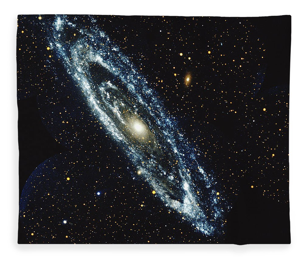 Outdoors Fleece Blanket featuring the photograph Andromeda Galaxy by Stocktrek