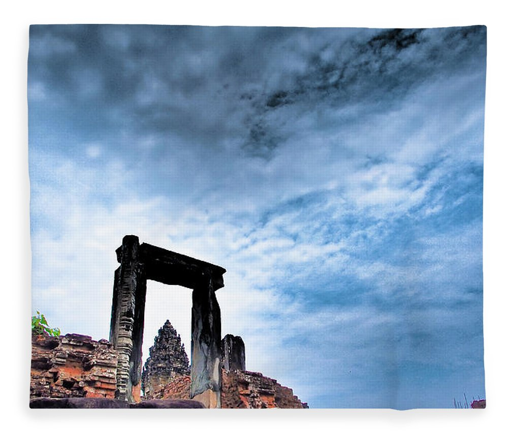 Cambodian Culture Fleece Blanket featuring the photograph Angkor by Cjfan