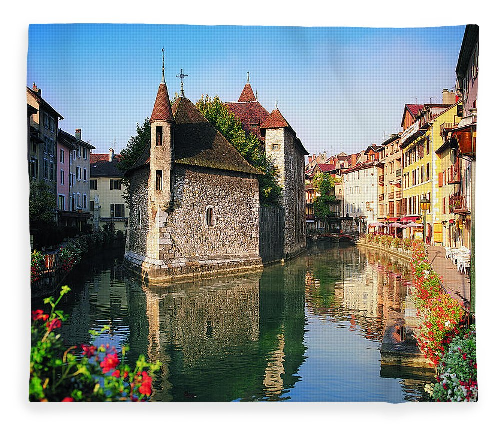 Town Fleece Blanket featuring the photograph Annecy, Savoie, France by Robertharding
