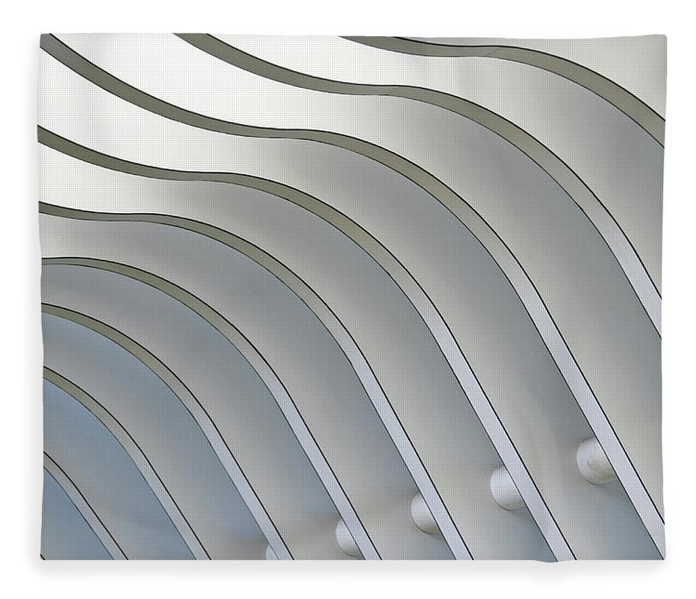 Ceiling Fleece Blanket featuring the photograph Architectural Abstract 1 - Interior Of by Lubilub