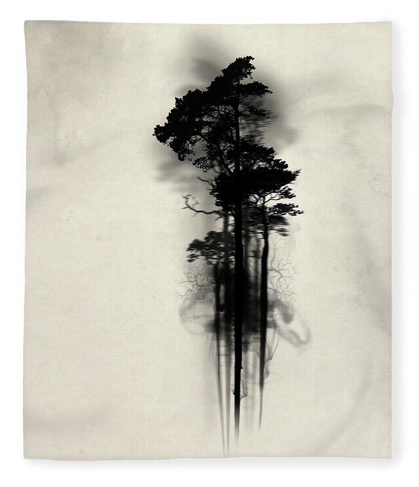 Forest Fleece Blanket featuring the painting Enchanted Forest by Nicklas Gustafsson