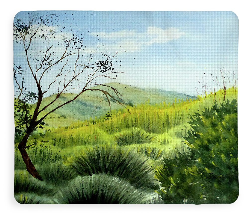 As The Sun Sets In Chino Hills Fleece Blanket For Sale By Janice Sobien