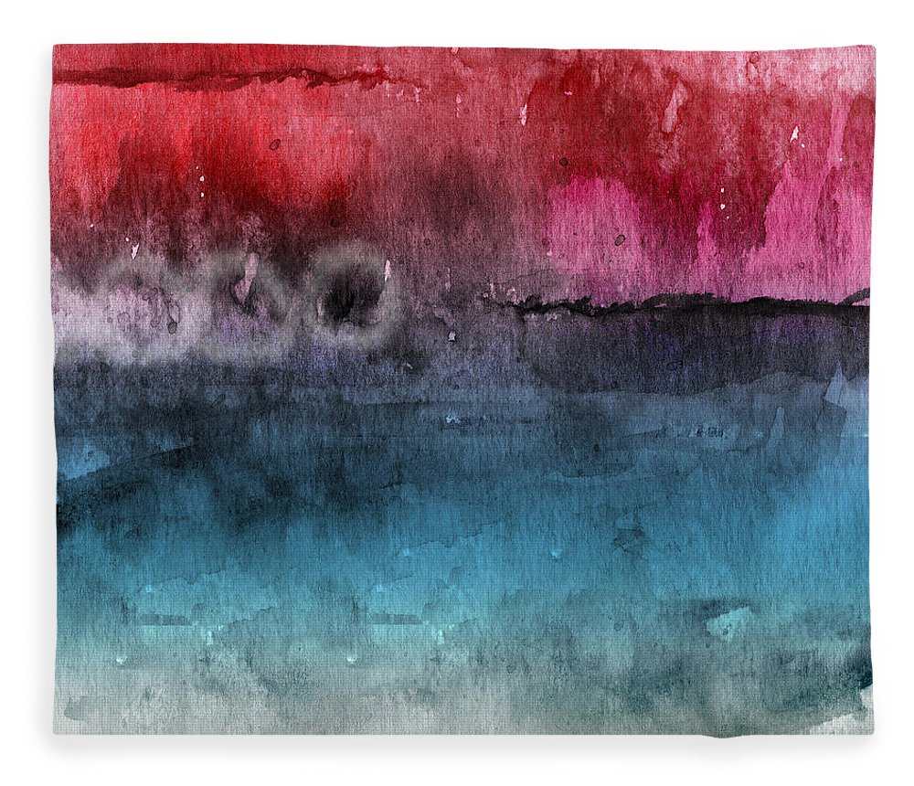 Abstract Fleece Blanket featuring the painting Awakened 4- Abstract Art by Linda Woods by Linda Woods