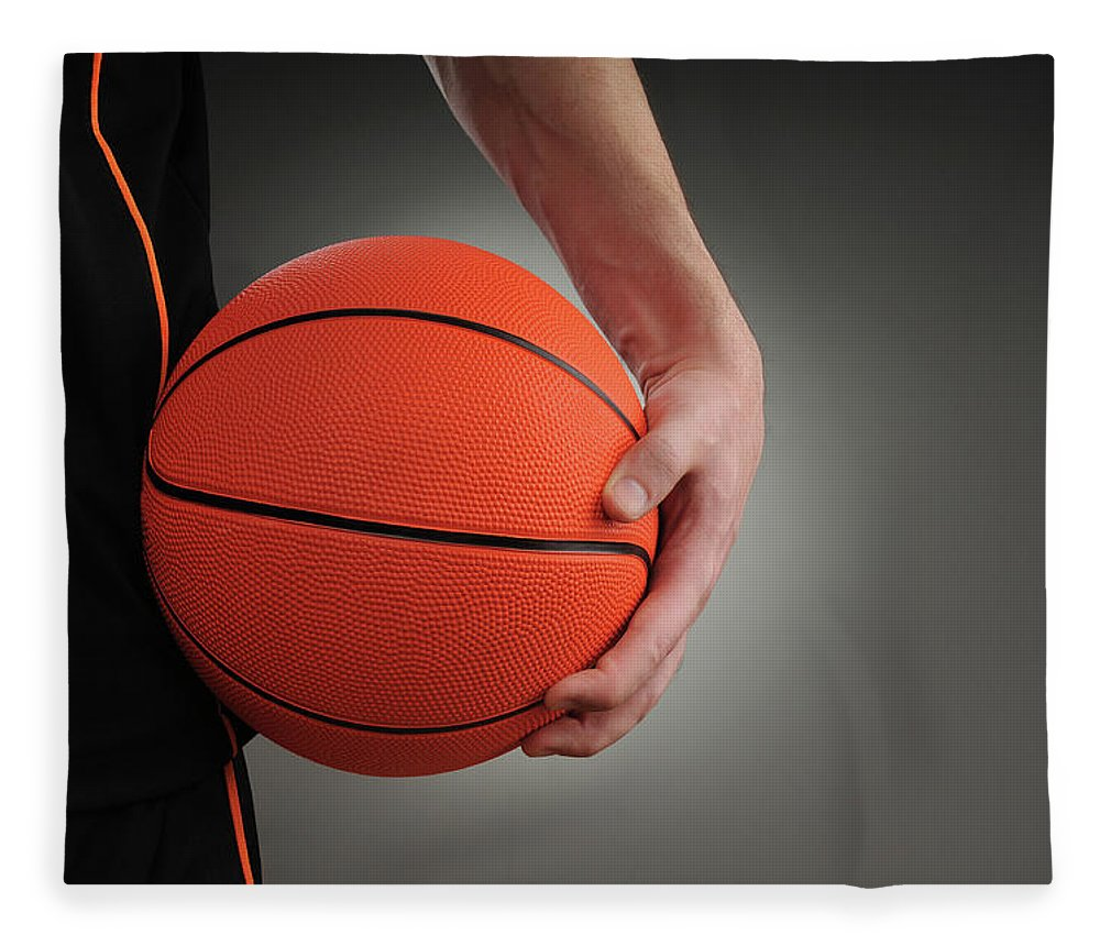 People Fleece Blanket featuring the photograph Basketball Player by Mumininan