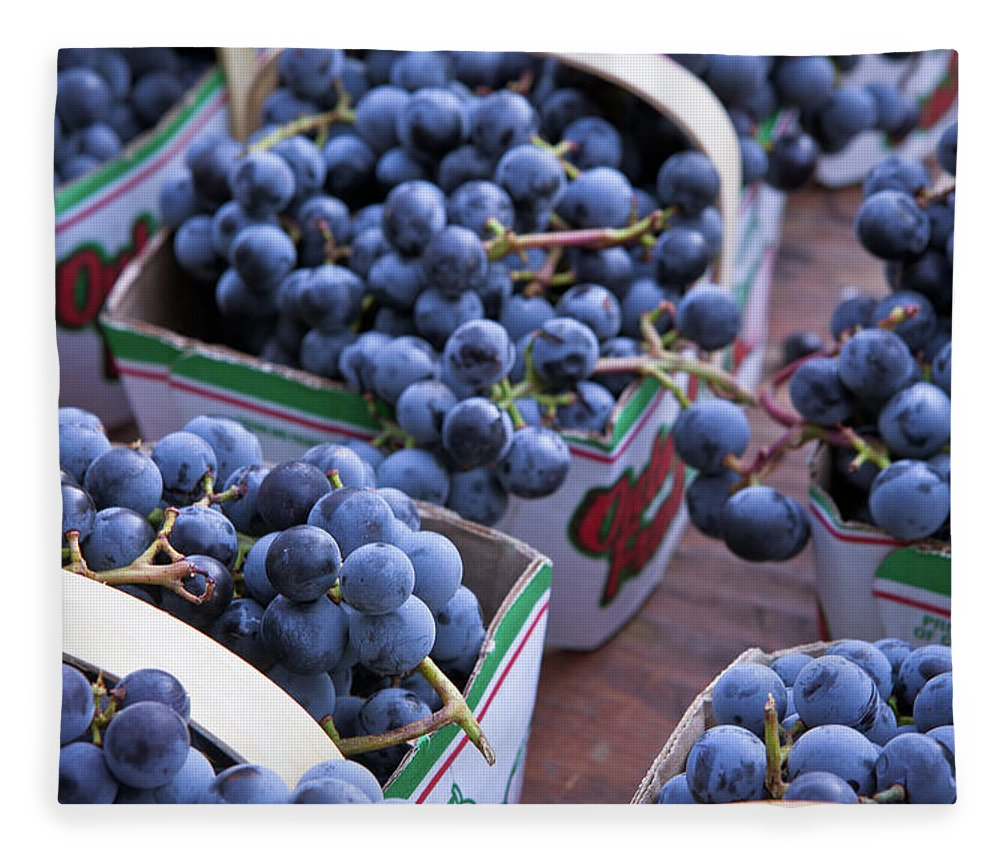 Toronto Fleece Blanket featuring the photograph Baskets Of Grapes by Mary Smyth