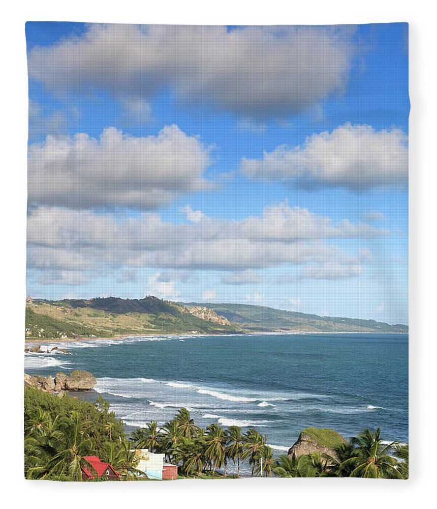 Scenics Fleece Blanket featuring the photograph Bathsheba Bay, Barbados by Michele Falzone