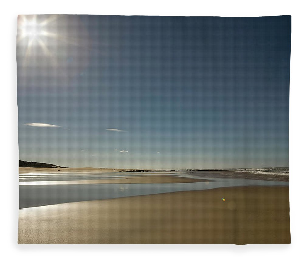 Scenics Fleece Blanket featuring the photograph Beach Of Indian Ocean In South Africa by Thomas Grass