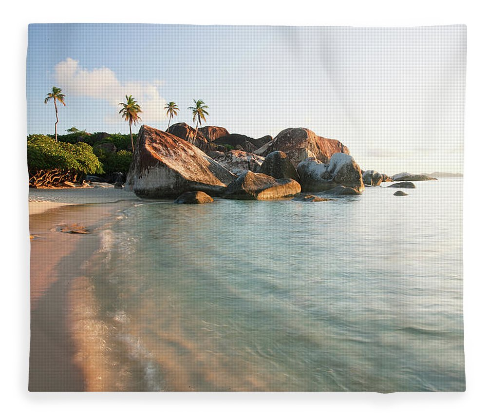 Tranquility Fleece Blanket featuring the photograph Beach Paradise by M Swiet Productions