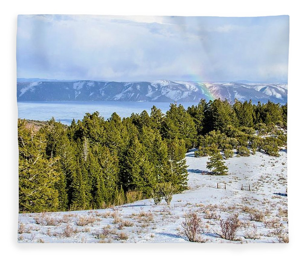 Tranquility Fleece Blanket featuring the photograph Bear Lake Scenic Byway by ©anitaburke