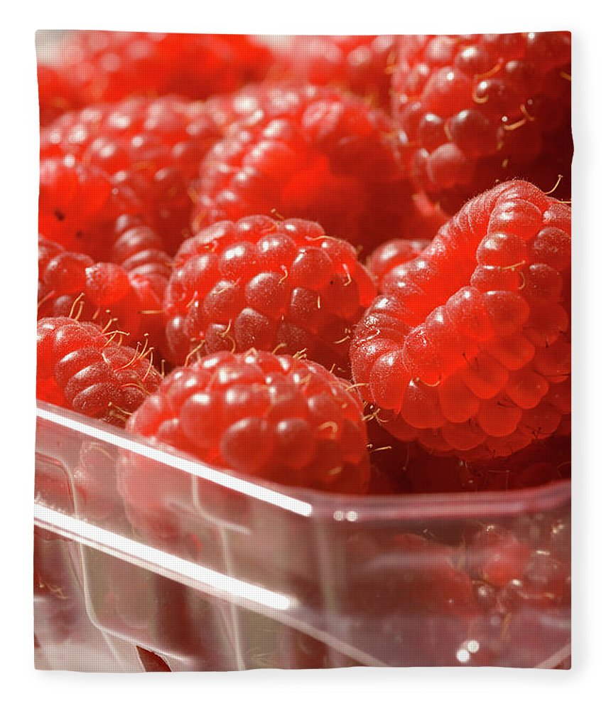Lifestyles Fleece Blanket featuring the photograph Berries In Carton by Gwmullis