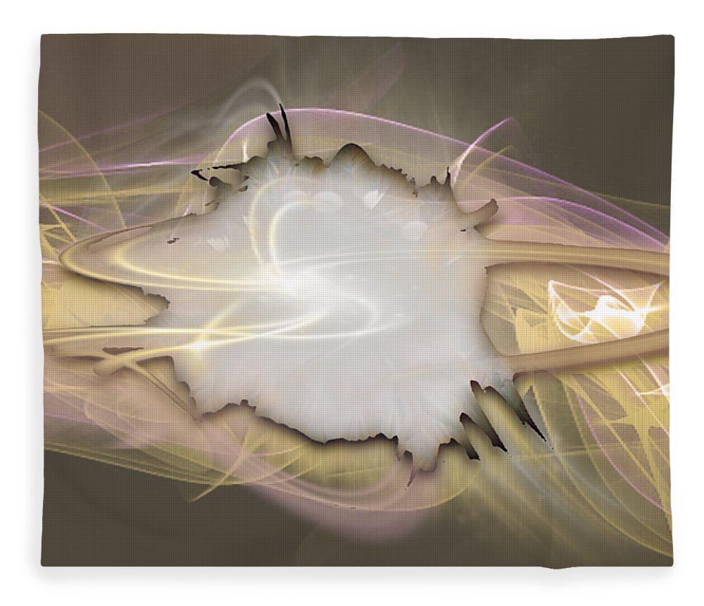 Beyond Fleece Blanket featuring the mixed media Beyond by Marvin Blaine