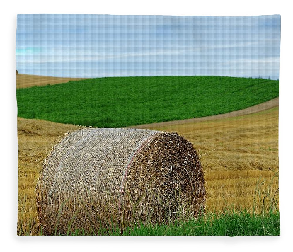 Tranquility Fleece Blanket featuring the photograph Biei...patchwork Road by By Alan Tsai
